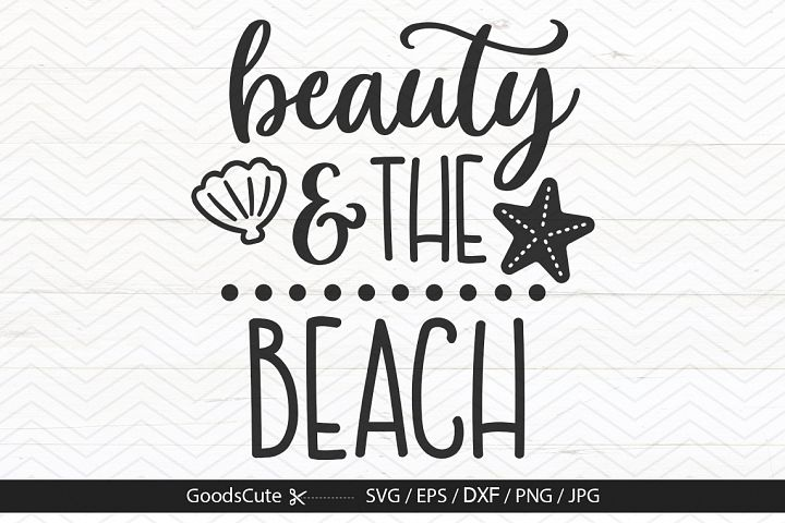 Beauty and The Beach - SVG DXF JPG PNG EPS
