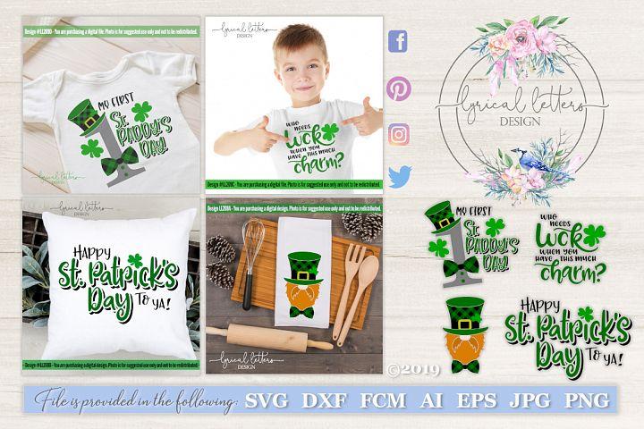 NEW! St. Patricks Day Bundle of 4 SVG DXF FCM LL269