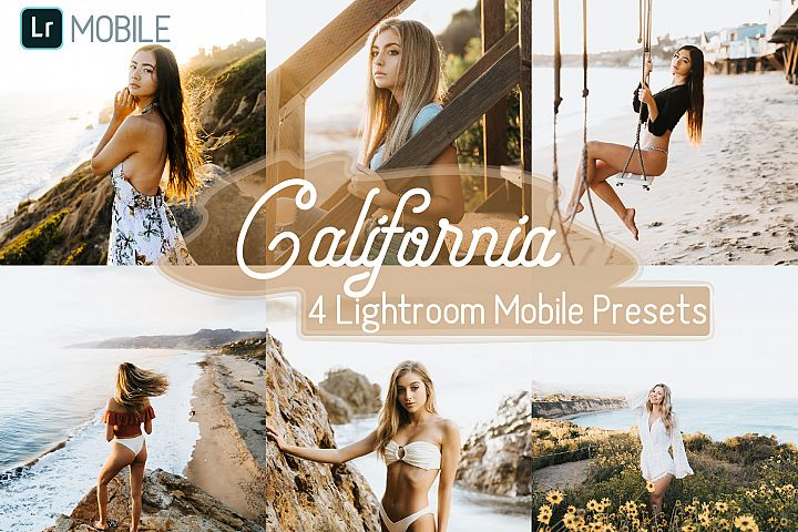 4 California Mobile Lightroom Presets