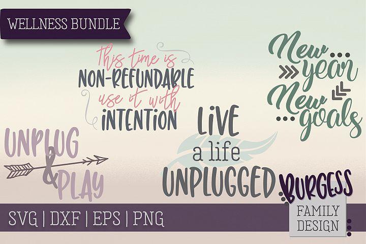 Wellness Bundle | SVG DXF EPS PNG