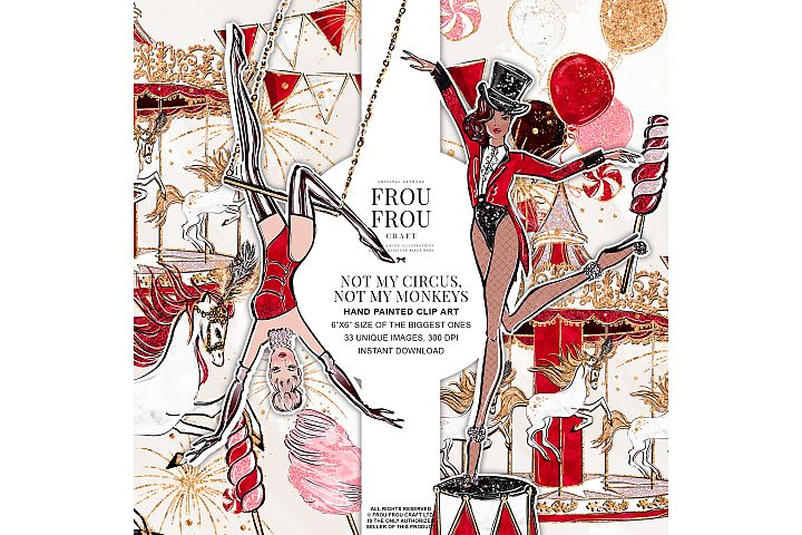 Circus Acrobat Carnival Girl Merry Go Around Clip Art