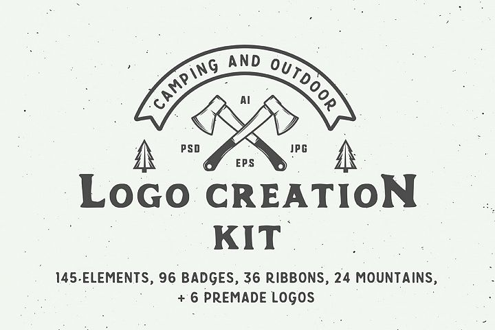 Camping Outdoor Logo Creation Kit