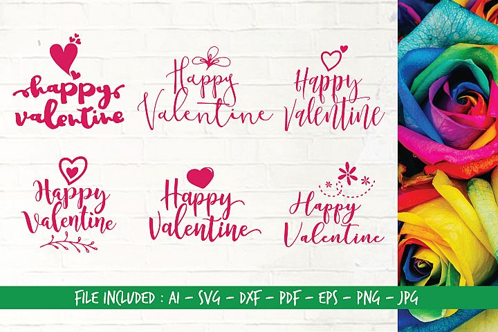 Digital Cutting Files_SVG_Happy Valentine