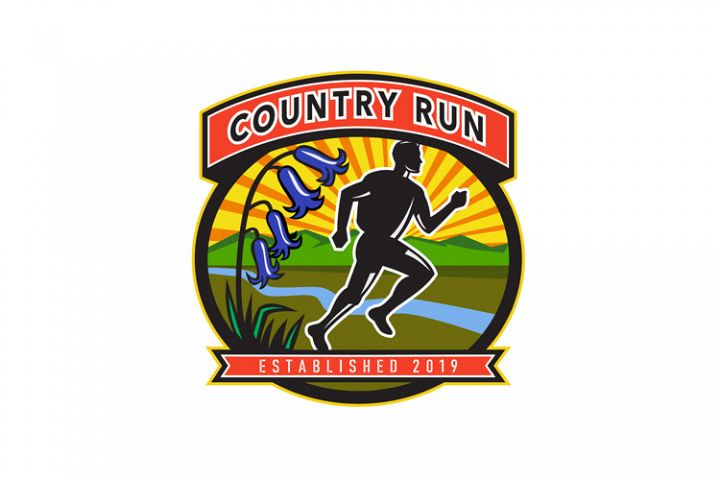 Country Marathon Run Icon