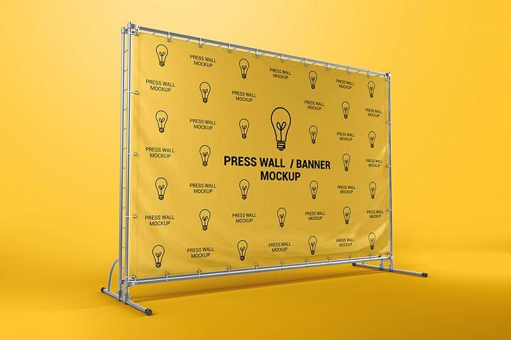 Press Wall / Stand Banner Mockup