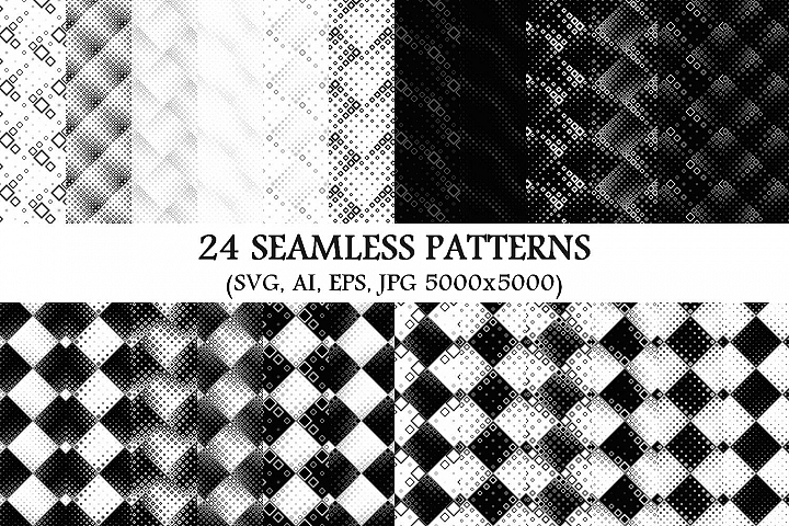 24 Seamless Square Patterns