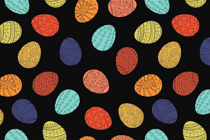 Color collection of Easter eggs. - Free Design of The Week Design4