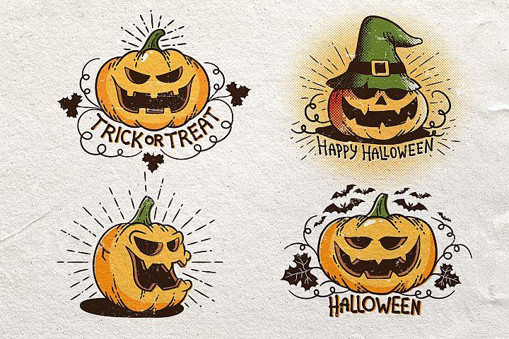 Halloween Retro Pumpkins