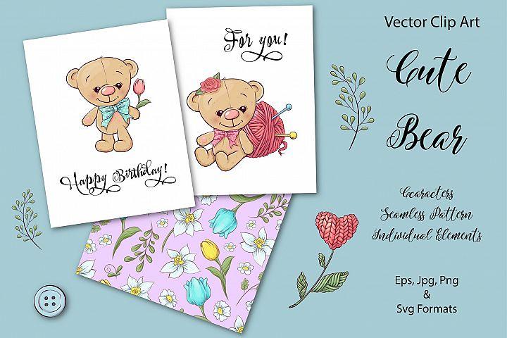 Cute Bear - vector clip art