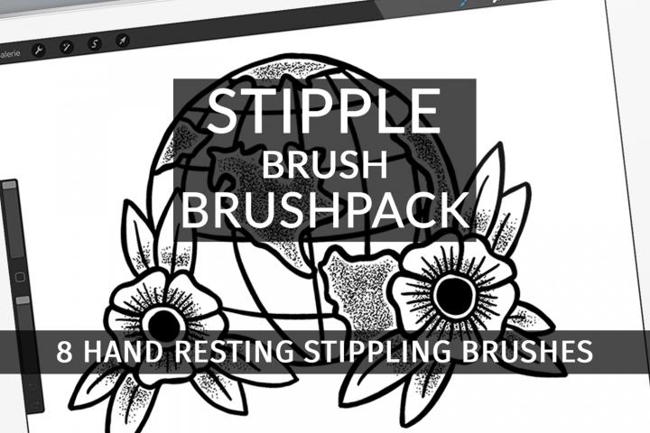 Stipple Brush Brushpack for Procreate