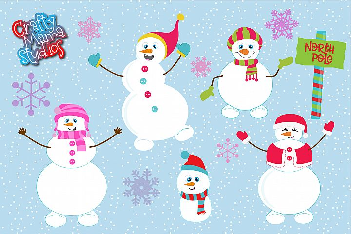 Snowman Bundle SVG, Sublimation, Snowflake SVG, Winter