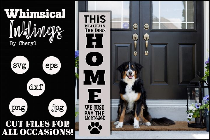Dogs Home Vertical SVG