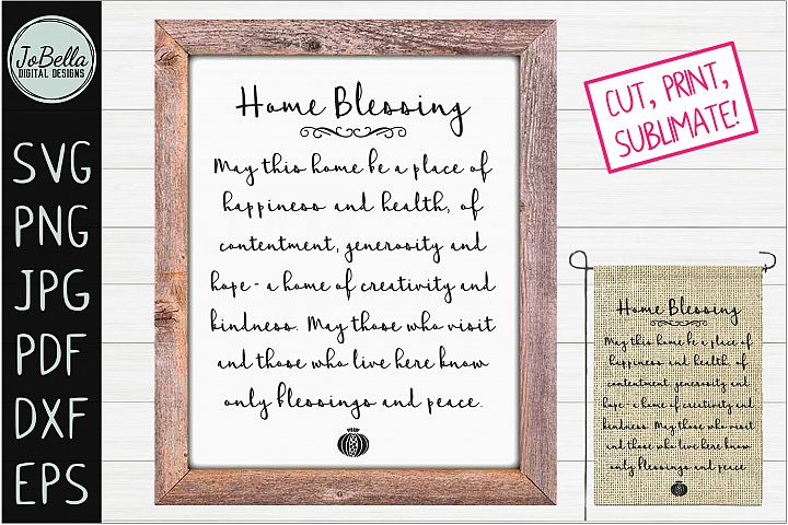 Birkat Habayit - Jewish Home Blessing SVG, PNG & Printable