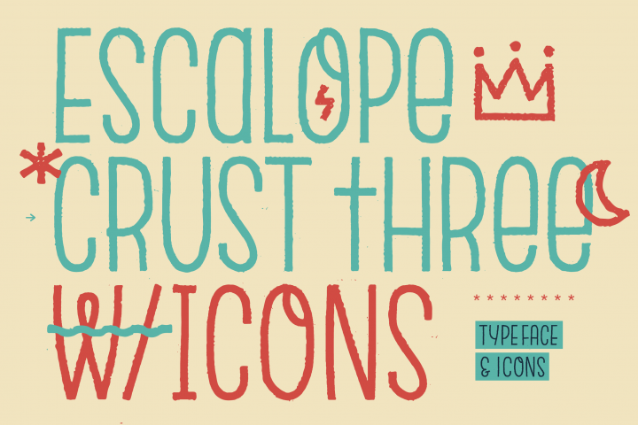 Escalope Crust Three + Icons