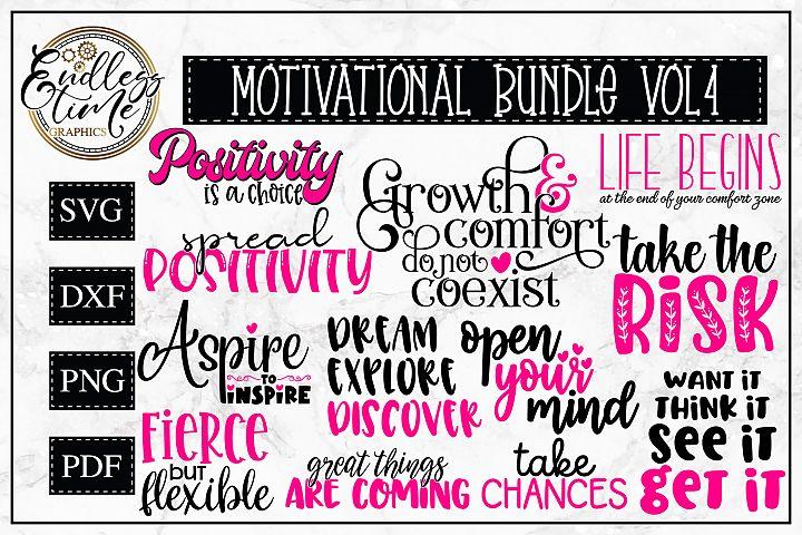 Motivational Bundle Volume 4 - 12 Motivational Quote SVGs