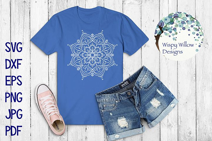 Mandala Bundle SVG Bundle | Monogram Mandala | Half Mandala - Free Design of The Week Design0