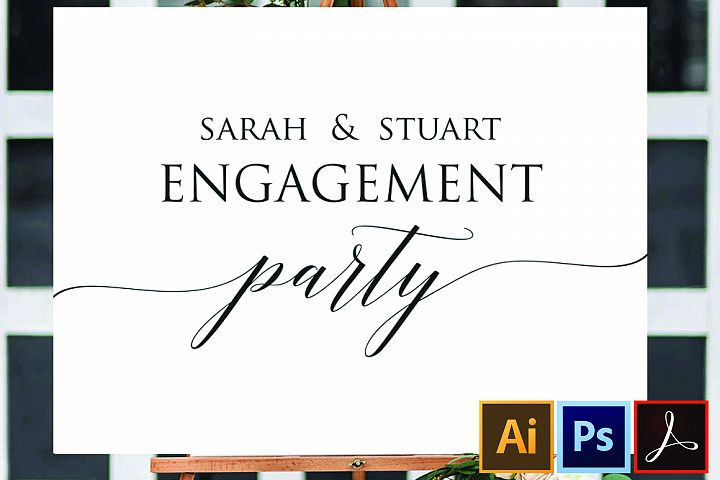 Engagement Party Sign, DIY Printable Welcome to Engagement