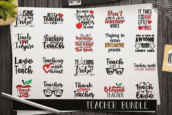 Teacher SVG Bundle - Cut files - Vectors - School SVG files
