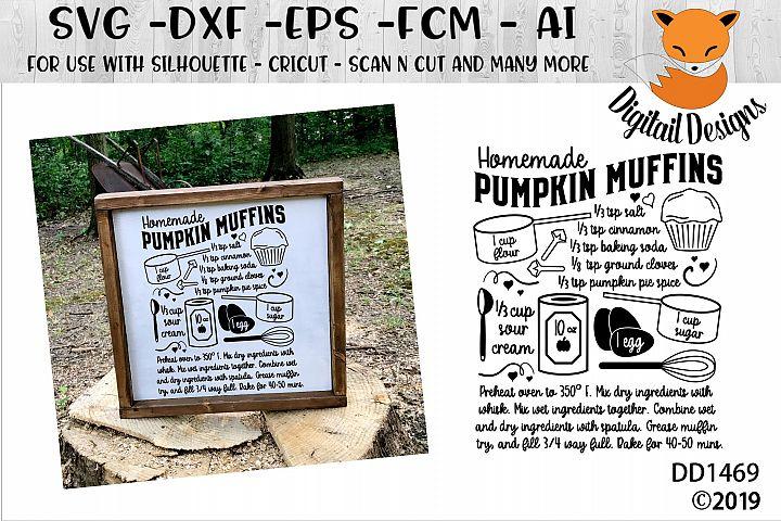 Pumpkin Spice Muffin Recipe SVG