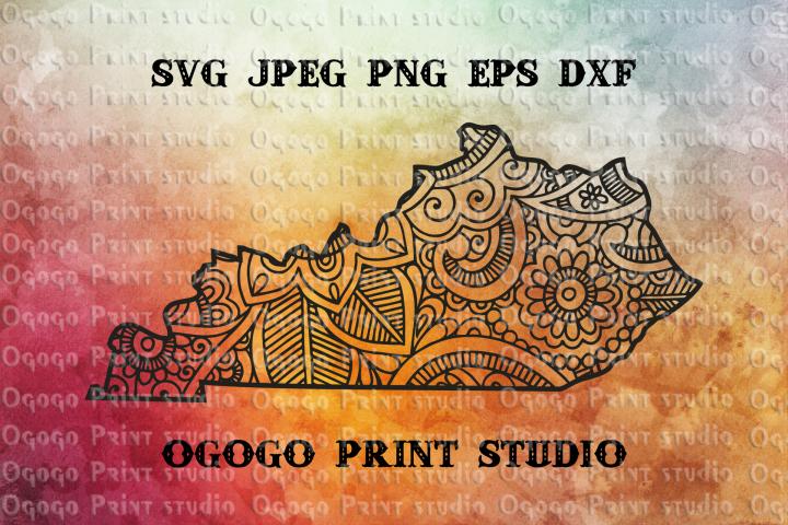 Kentucky SVG, Zentangle SVG, Travel svg, Doodle Art, Mandala