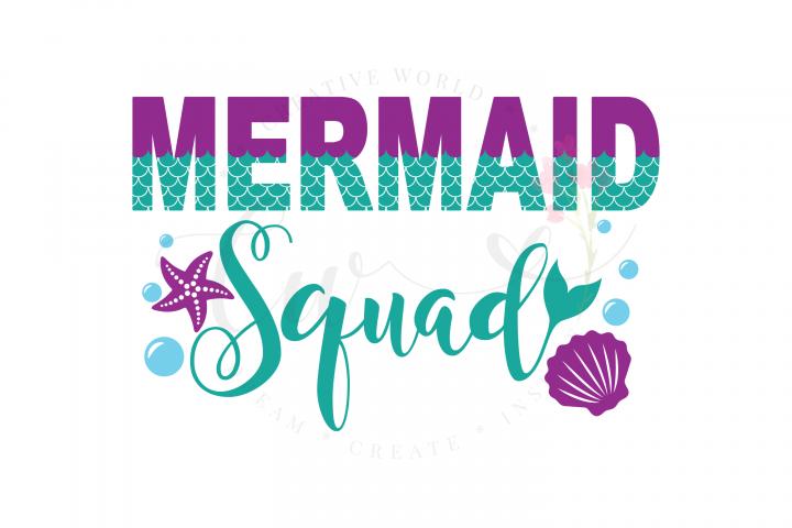 Mermaid Squad SVG   Mermaid Squad  Mermaid Birthday Girl svg