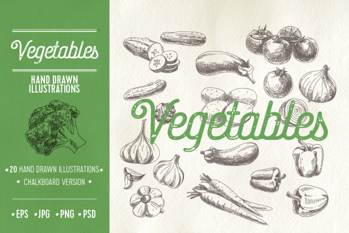 Vector hand drawn sketch vegetables