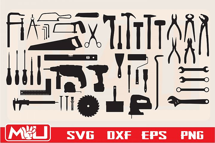 Tool Svg, Clipart, Printable, Silhouette and Cut file.