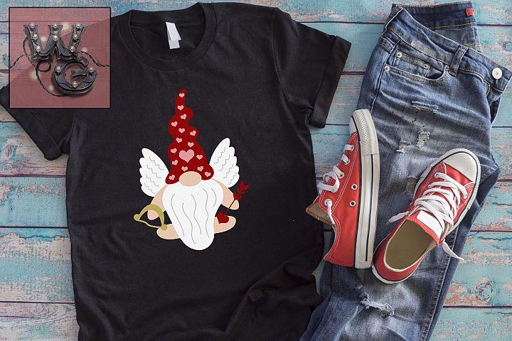 Gnome Cupid Valentine SVG DFX PNG EPS JPEG Comm