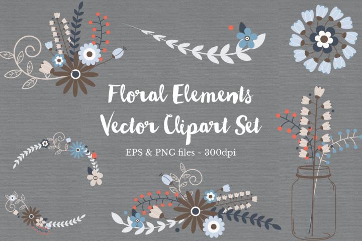 Floral Wreath Clipart Vectors example
