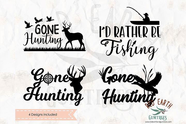 Gone hunting bundle in SVG,DXF,PNG,EPS,PDF formats