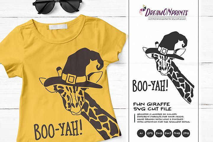 Boo-Yah! | Fun Giraffe SVG | Funny Halloween Giraffe