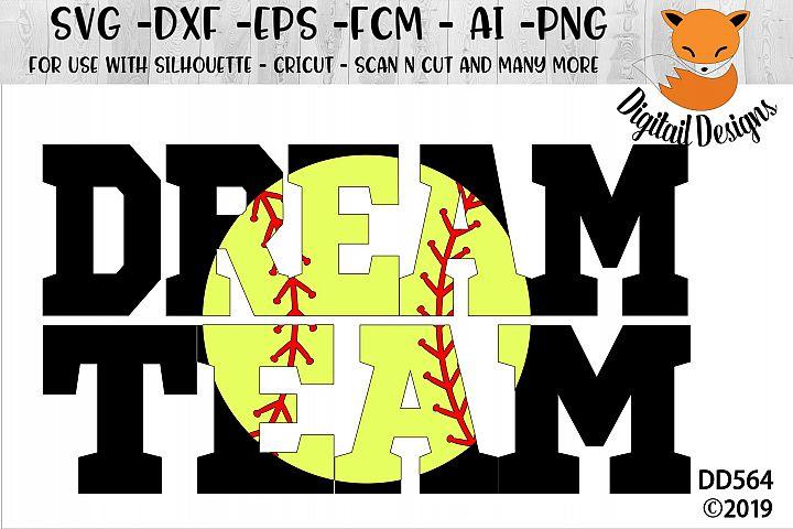 One Team One Dream Team Baseball SVG - Silhouette - Cricut