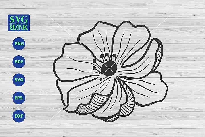 Big cosmos Flower Svg, single flower cut file, daisy clipart