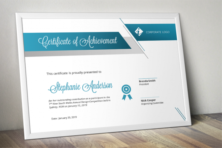 Unique Modern Word Event Certificate Template