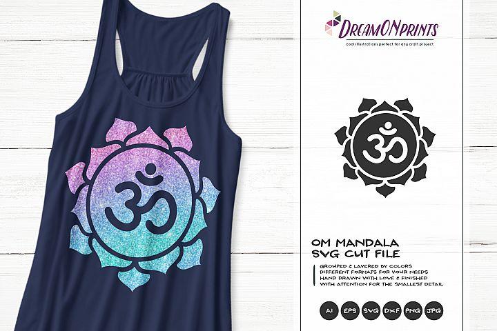Om Mandala SVG | Yoga Cut Files