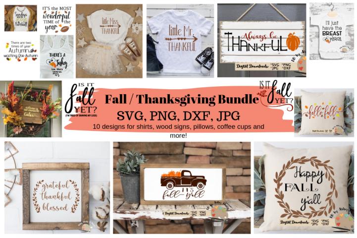 Fall Bundle Thanksgiving Bundle svg set, Dxf, Png Jpg files
