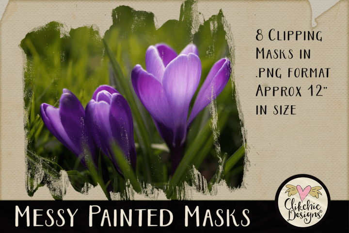 Clipping Masks - Messy Painted Photo Masks & Tutorial