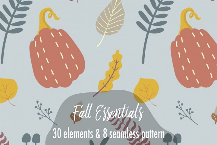 Fall Essentials Seamless Pattern