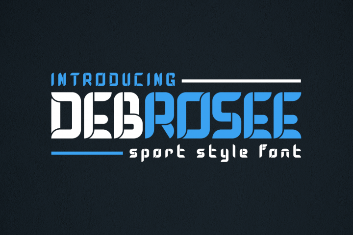 Debrosee - Sport Style Font
