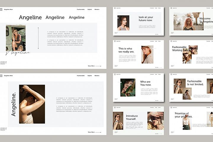 Angeline Fashion Keynote Template