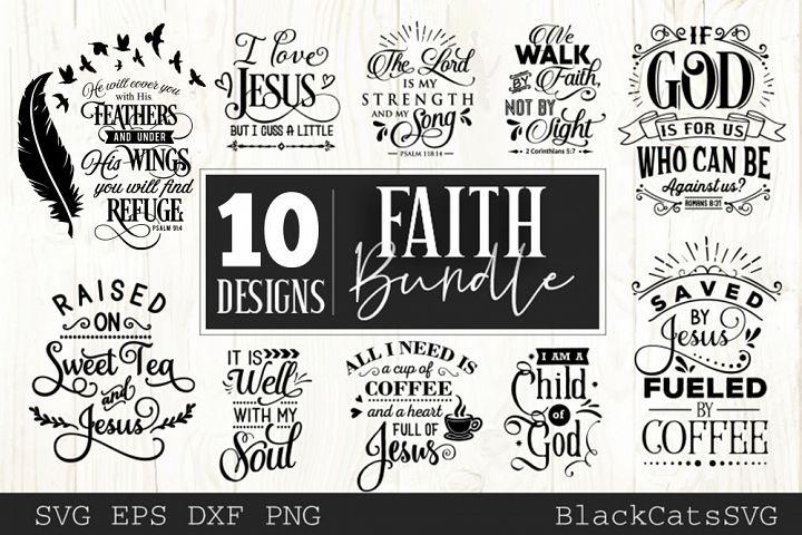 Faith SVG bundle 10 designs Christian SVG bundle vol 1
