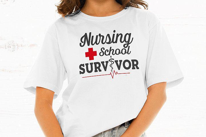 Nursing School Survivor SVG