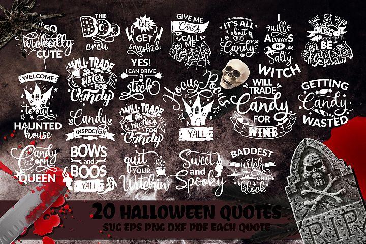 Halloween Bundle SVG Boo Pumpkins Lettering Quote