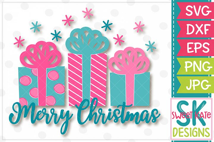 Merry Christmas Presents SVG DXF EPS PNG JPG