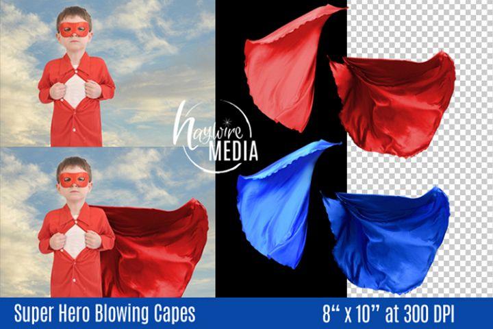 PNG Superhero Superman Costume Blowing Cape Digital Prop