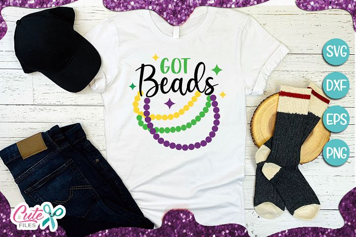 Got beads mardi gras SVG cut file for crafter