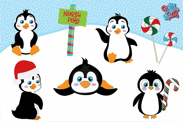 Penguins Bundle SVG, Sublimation, Christmas SVG, Winter