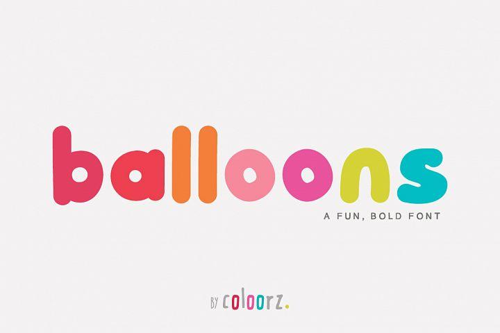 Balloons Font