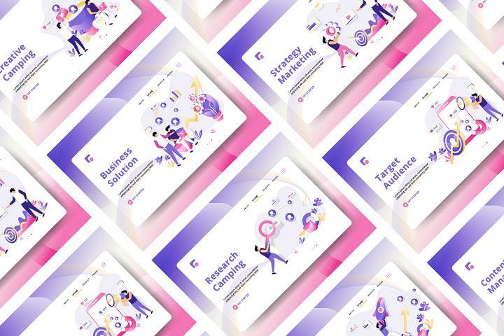 Business Marketing set Illustration vol 1