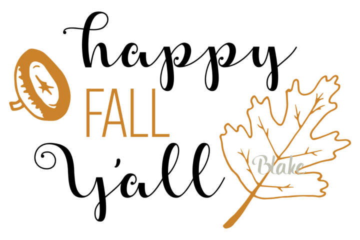 Happy Fall Yall svg Fall svg Fall leaves t-shirt design svg